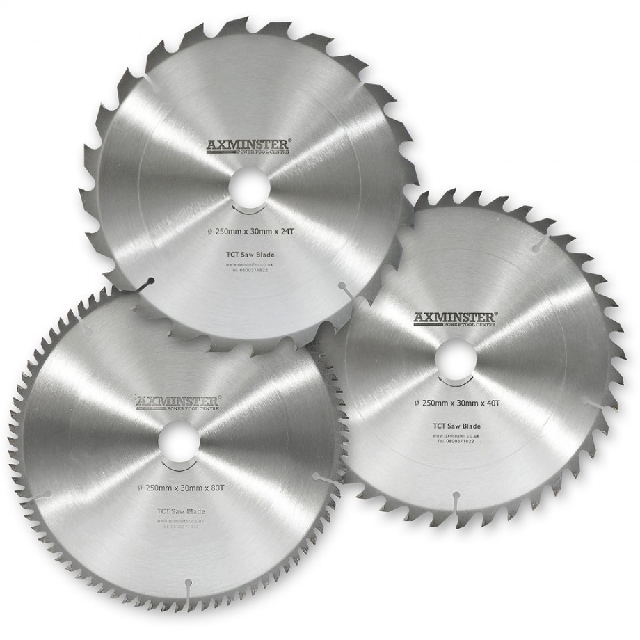 "Axcaliber Contract TCT Saw Blade General Purpose - 250mm x 3mm x 5/8"" T40"