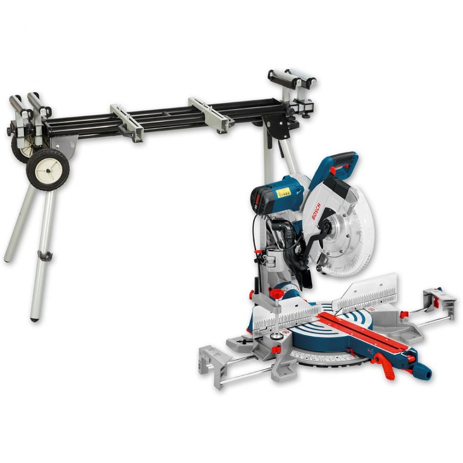 Bosch GCM 12 GDL 305mm Axial-Glide Mitre Saw 230V & Stand