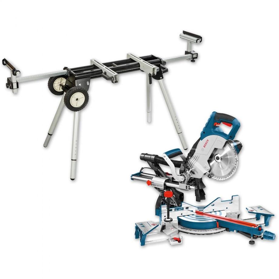 Bosch GCM 8 SJL 216mm Slide Mitre Saw 230V & Stand