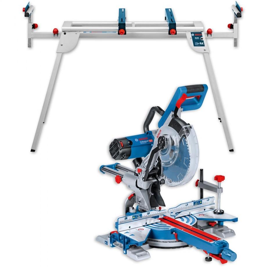Bosch GCM350-254 Slide Mitre Saw & GTA2600 Stand 110V