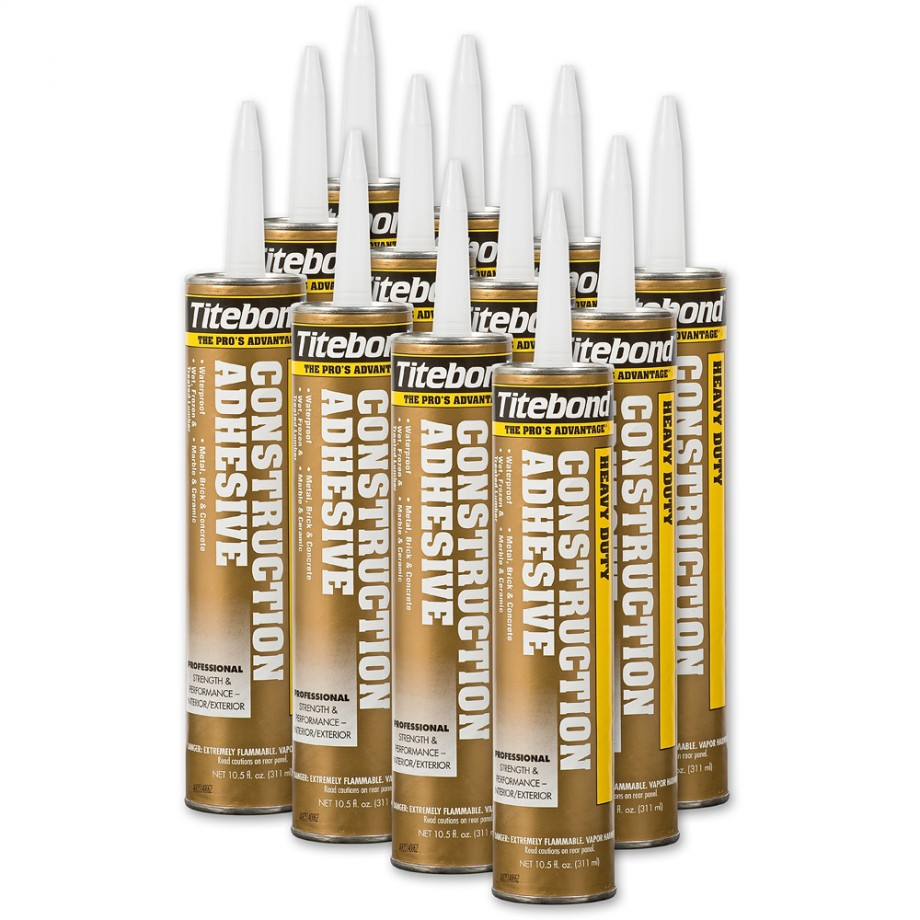 Heavy Duty Titebond Construction Adhesive - Box of 12 Tubes