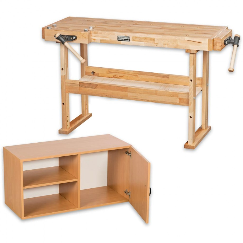Axminster 1500 Workbench & Storage Cupboard