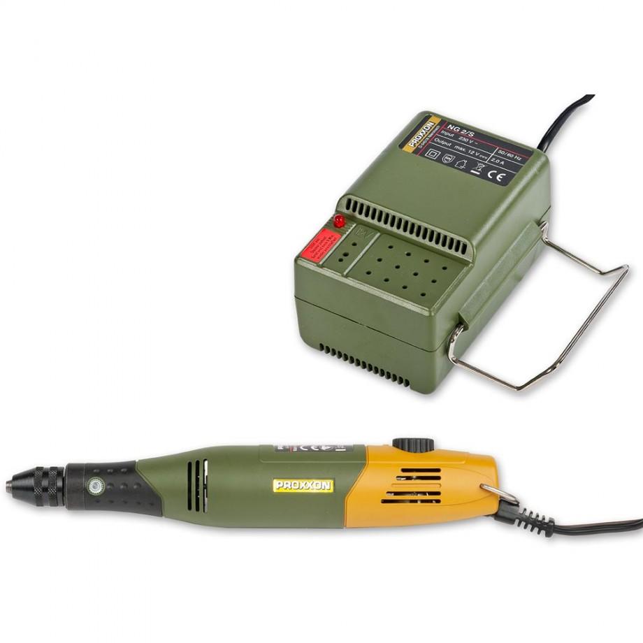 Proxxon 60/EF Mill/Drill 12V & NG2/S Mains Adaptor