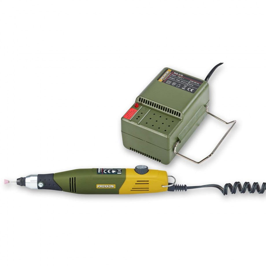 Proxxon 60/E Mill-Drill 12V & NG 2/S Mains Adaptor