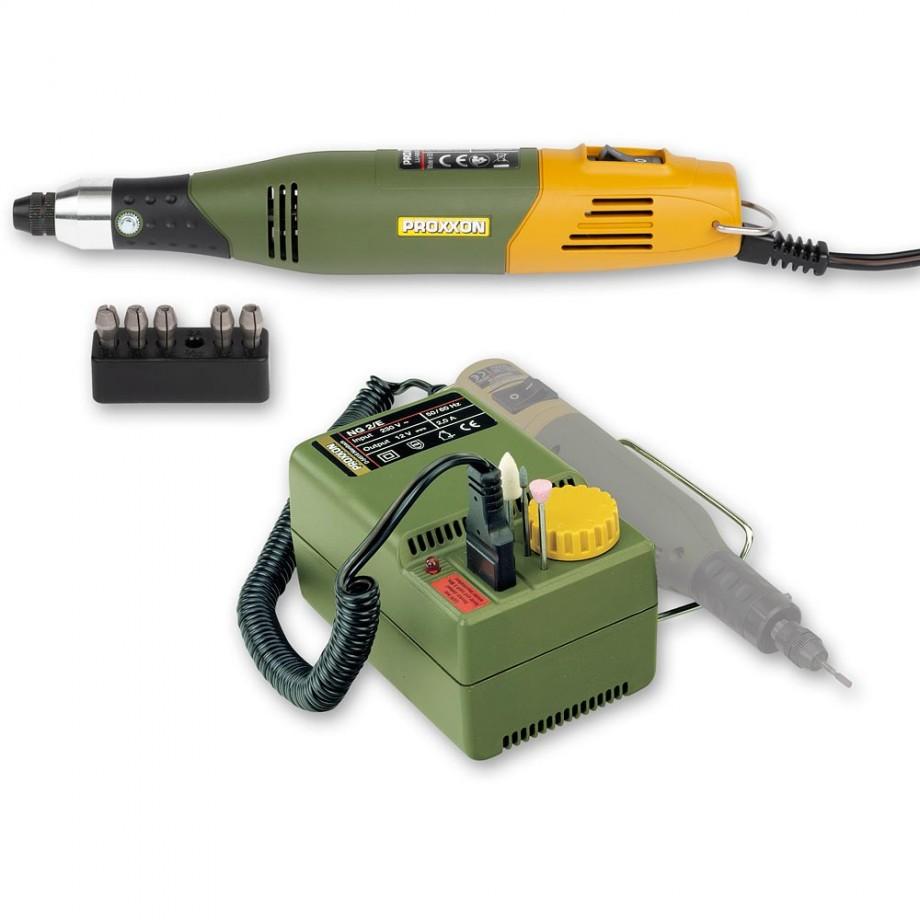Proxxon 60 Mill/Drill 12V & NG 2/E Mains Adaptor