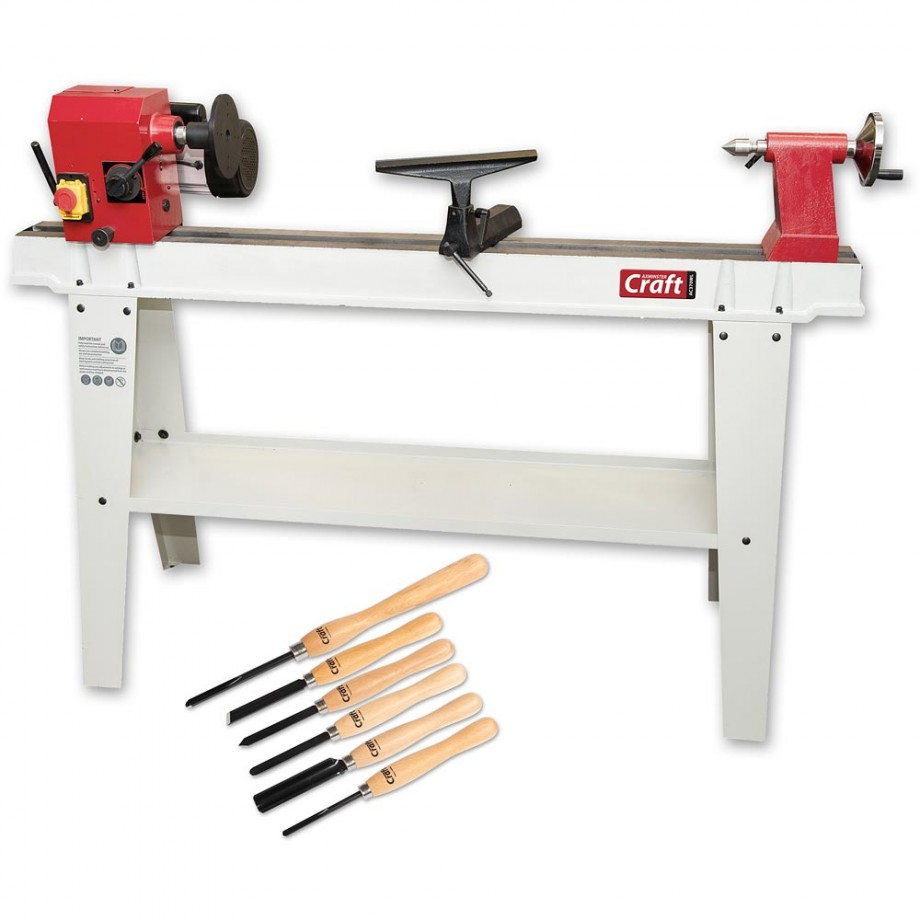 Axminster Craft AC370WL Woodturning Lathe & Turning Tool Set Package