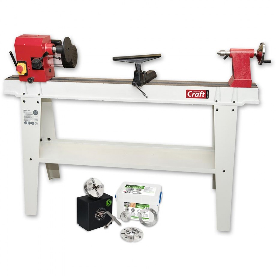 Axminster Craft AC370WL Woodturning Lathe & SK100 Chuck Package