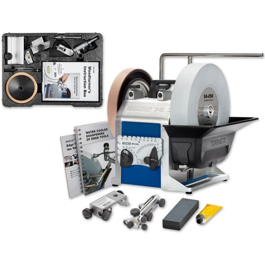 Tormek T-8 Sharpening System With TNT-808 Woodturner's Kit