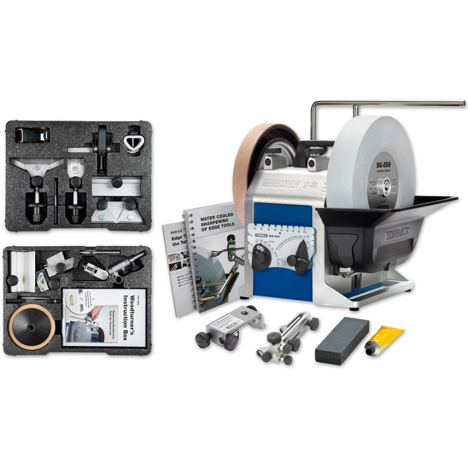 Tormek T-8 Sharpening System With Hand Tool & Woodturner's Kits