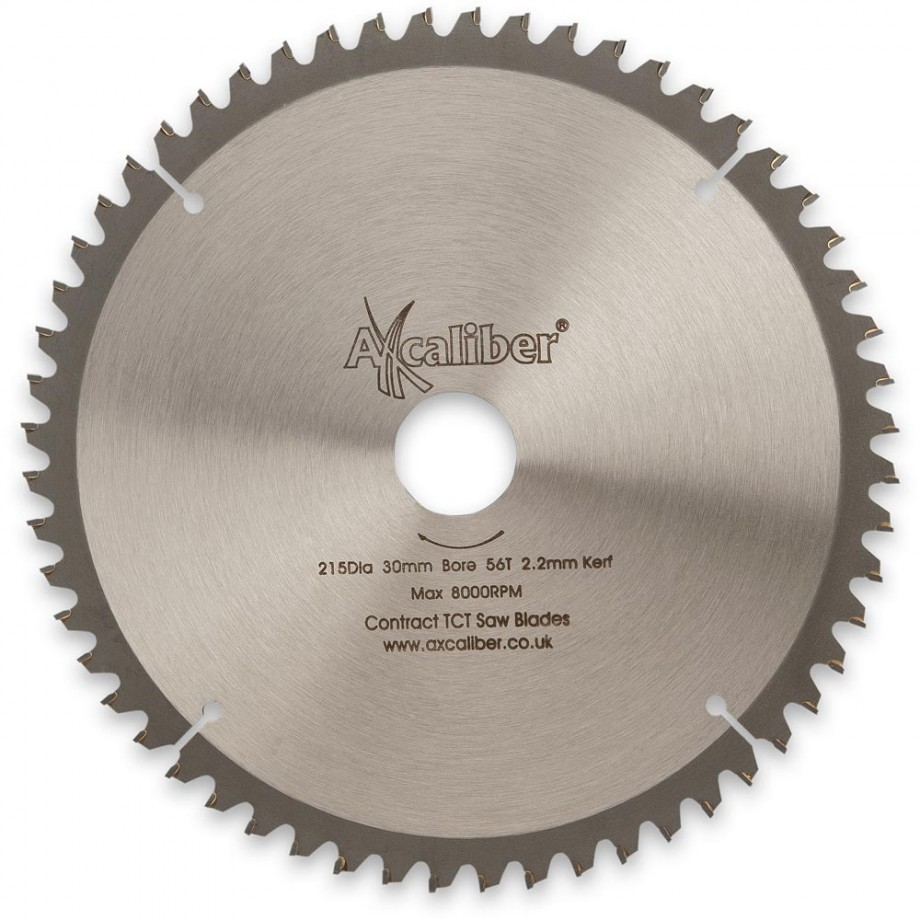 Axcaliber Contract 215mm Neg Rake TCT Saw Blade