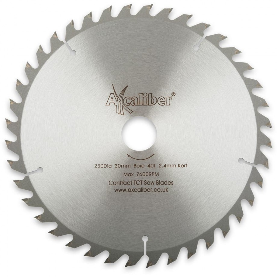 Axcaliber Contract TCT Saw Blade - 230mm x 2.4mm x 30mm T40