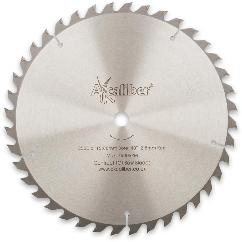 "Axcaliber Contract TCT Sawblade General Purpose 250 x 2.8mm x 5/8"" T40"