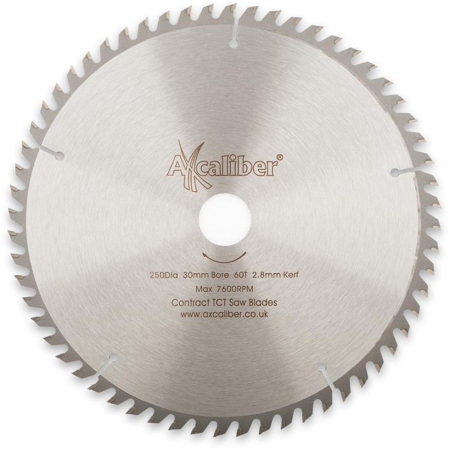 Axcaliber Contract TCT Saw Blade Crosscut - 250mm x 3mm x 30mm T60