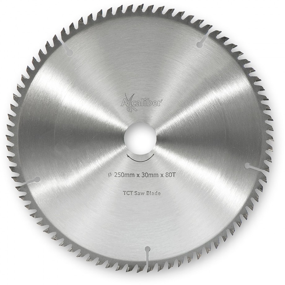Axcaliber Contract TCT Saw Blade Extra Fine - 250mm x 3mm x 30mm T80