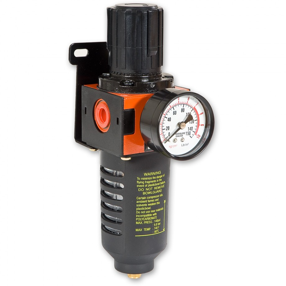 Combined Air Filter & Regulator with Gauge