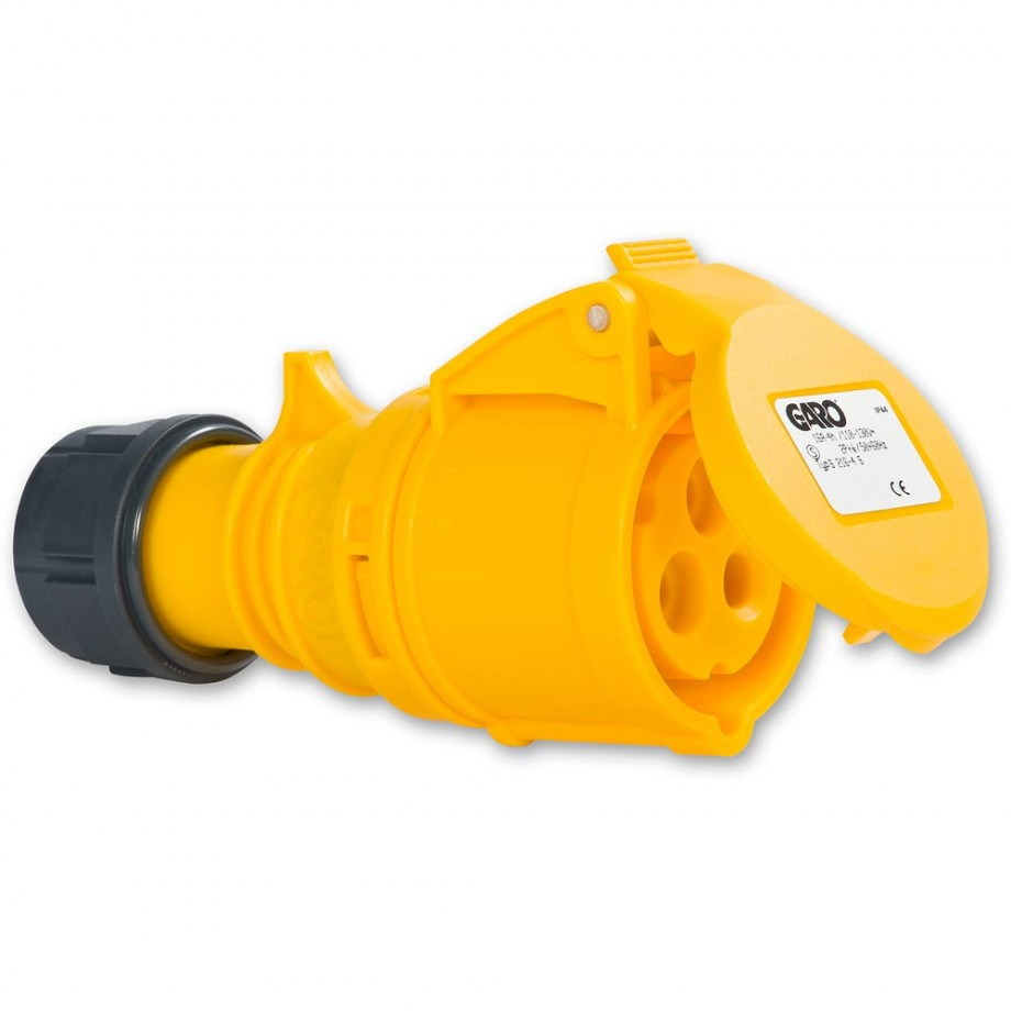 Axminster Yellow Trailing Socket 16A - 110V