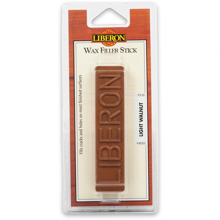 Liberon Wax Filler Stick - #21 Light Walnut 50g