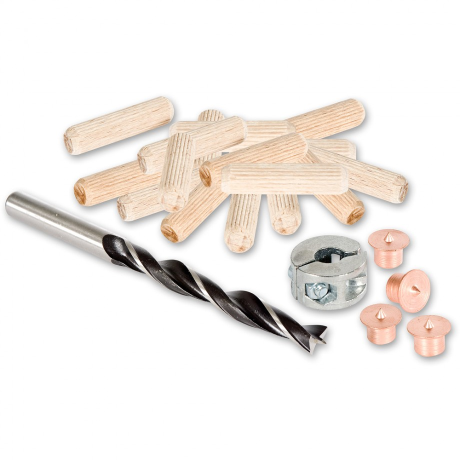 Axminster Dowel Kit with 26 Dowels - 6mm