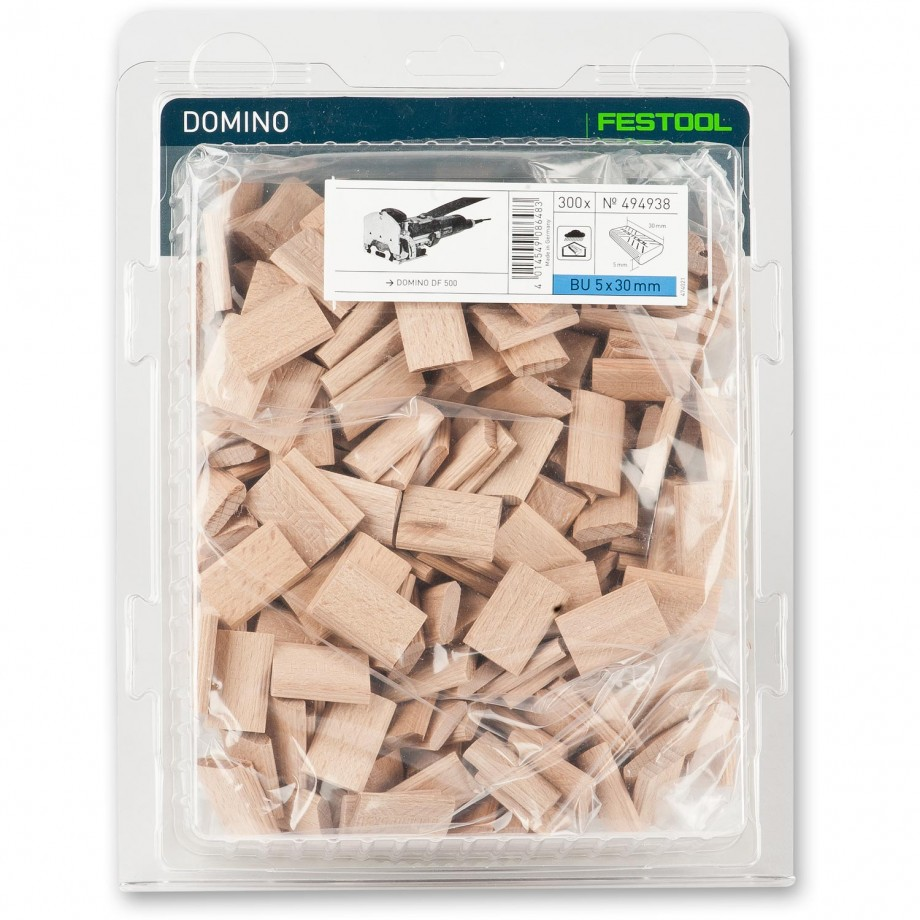 Festool Domino DF 500 Dowel - 5 x 30mm (Pkt 300)