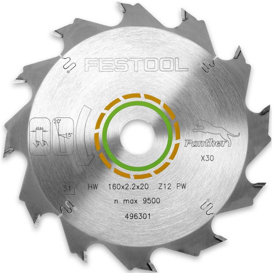Festool 160mm TCT Saw Blade - 12T
