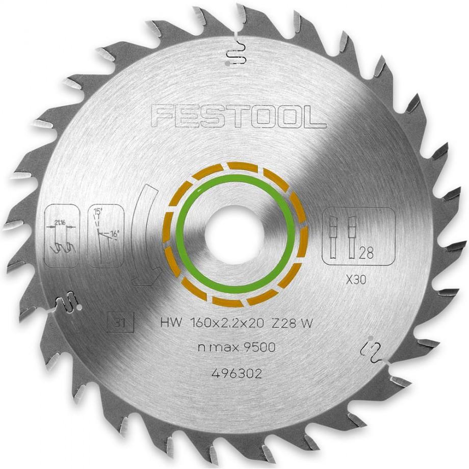 Festool 160mm TCT Saw Blade - 28T
