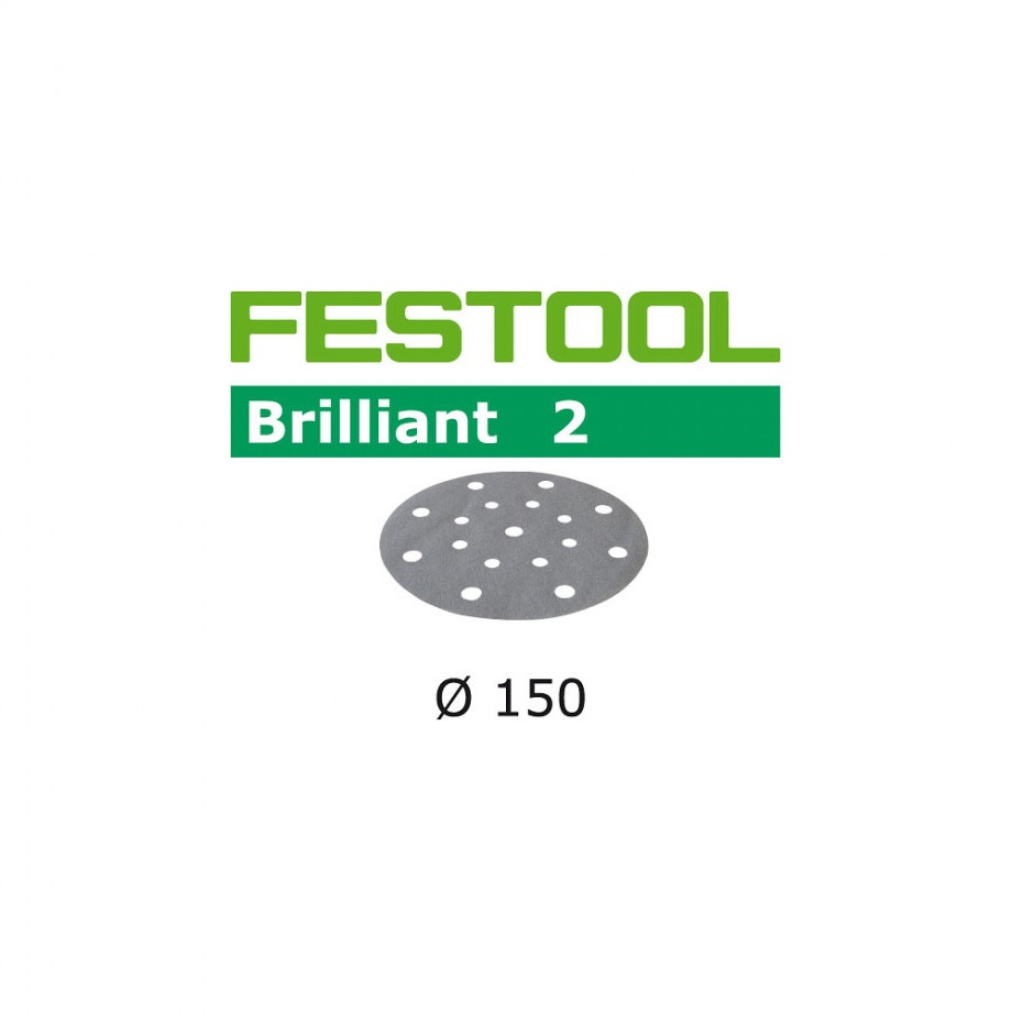 Festool Brilliant 150mm Sanding Discs - 180 Grit