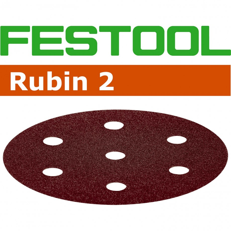 Festool 180 Grit 90mm Sanding Disc Rubin (pkt 50)
