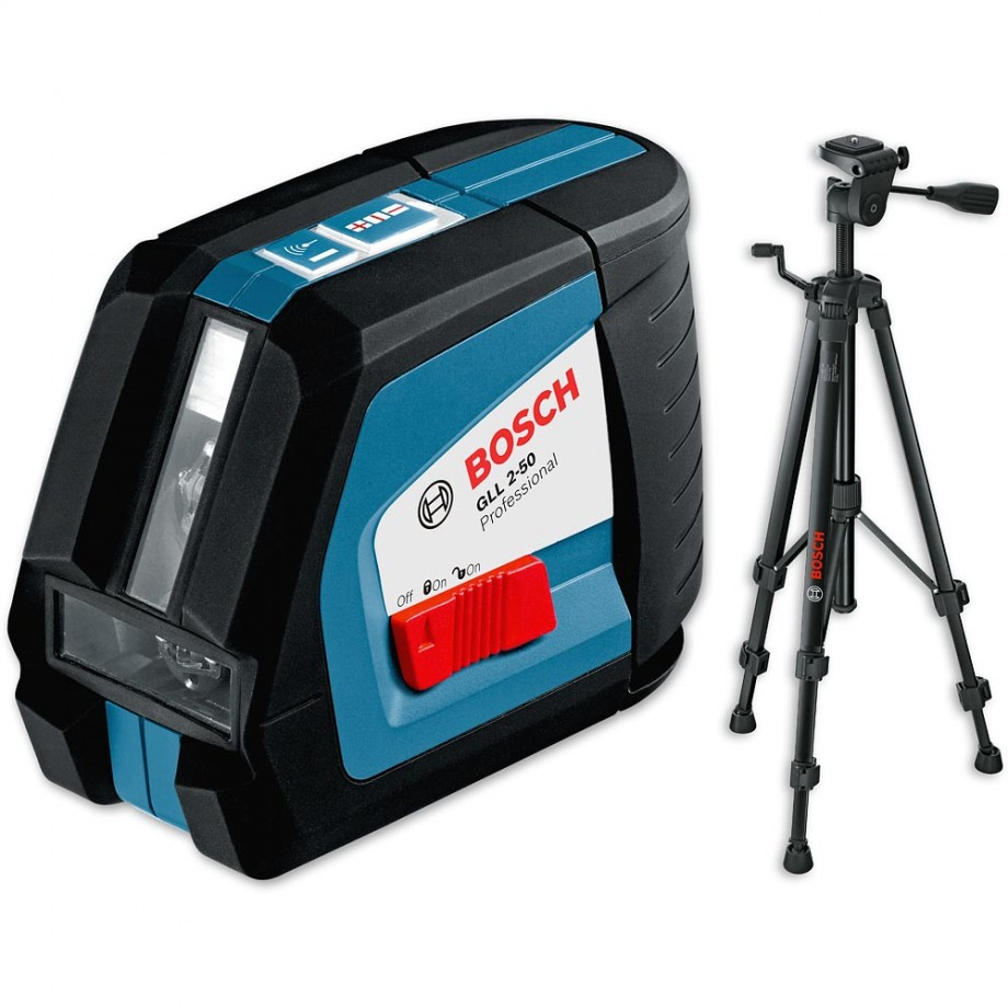 Bosch GLL 2-50 BS Cross Laser Line with BT 150 Tripod