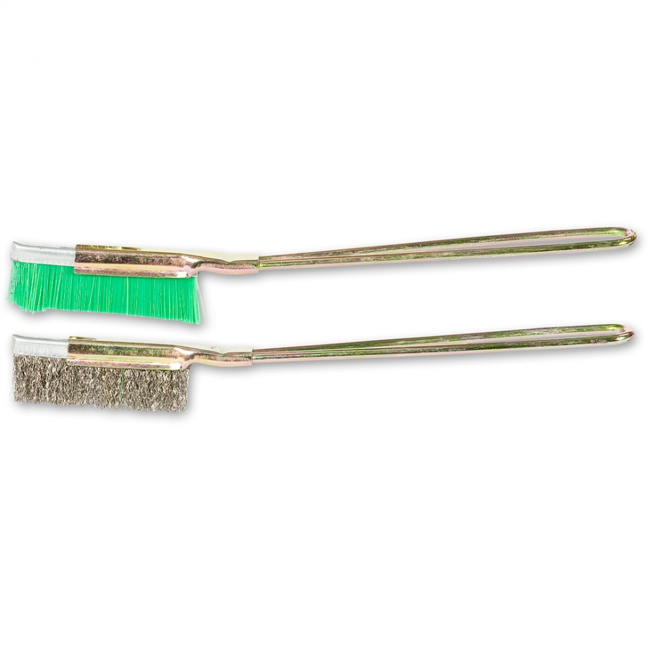 SIT Slim Duo Wire Brush Set - Stainless Steel & Nylon