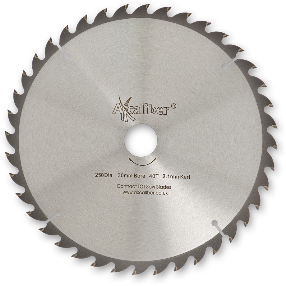 Axcaliber Contract TCT Saw Blade Thin Kerf 250mm x 2.1mm x 30mm 40T
