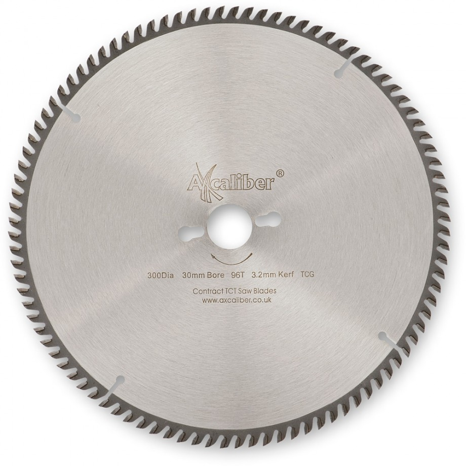 Axcaliber Contract TCT Saw Blade Extra Fine - 300mm x 3.1mm x 30mm T96 TCG