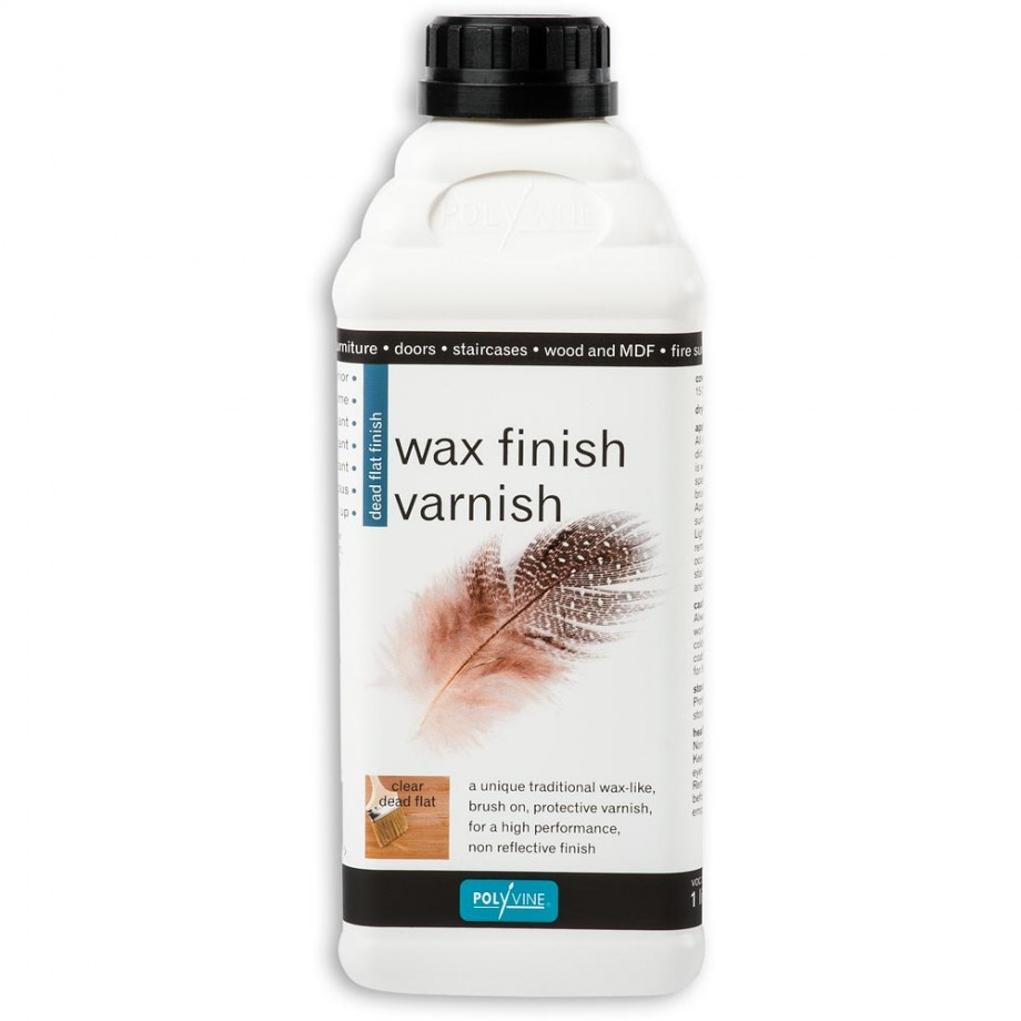 Polyvine Wax Finish Varnish - Dead Flat 1ltr