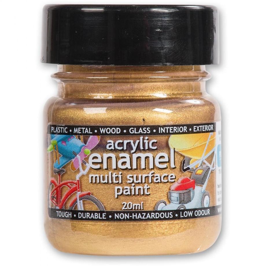 Polyvine Acrylic Enamel Paint - Metallic Gold 20ml