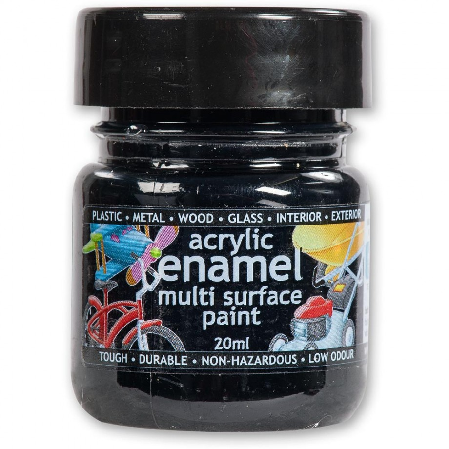 Polyvine Acrylic Enamel Paint - Black 20ml