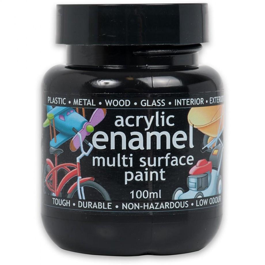 Polyvine Acrylic Enamel Paint - Matt Black 100ml