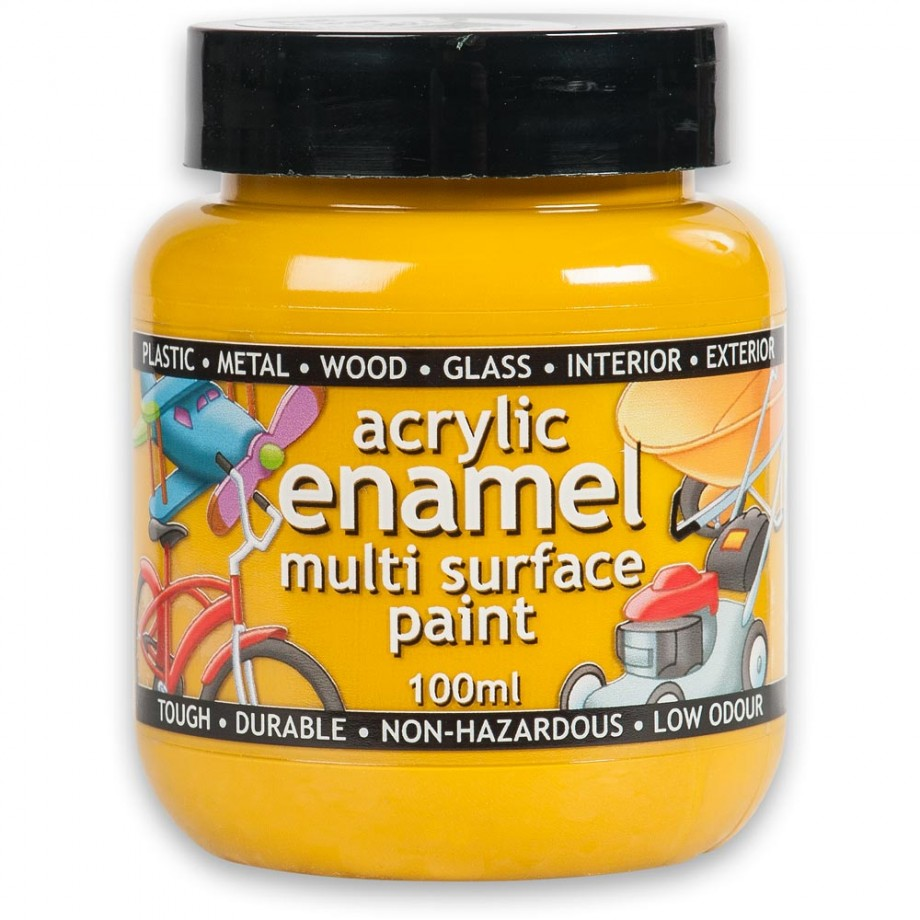 Polyvine Acrylic Enamel Paint - Yellow 100ml
