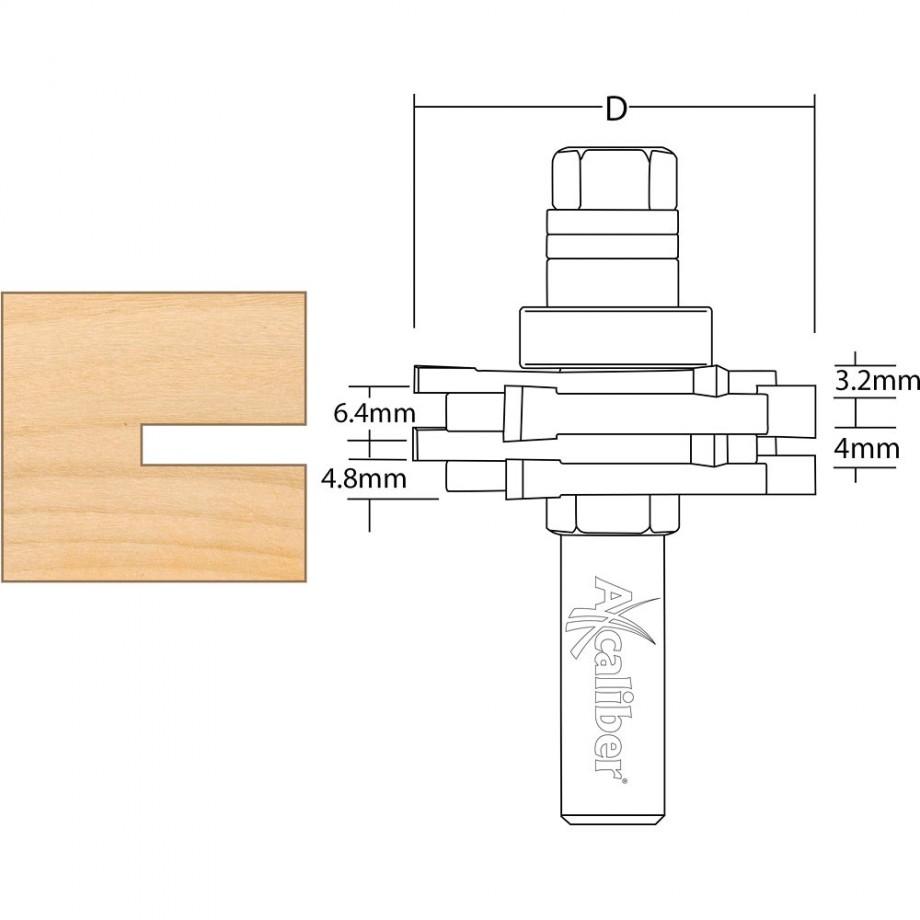 Axcaliber Three Wing Slot Cutter Set