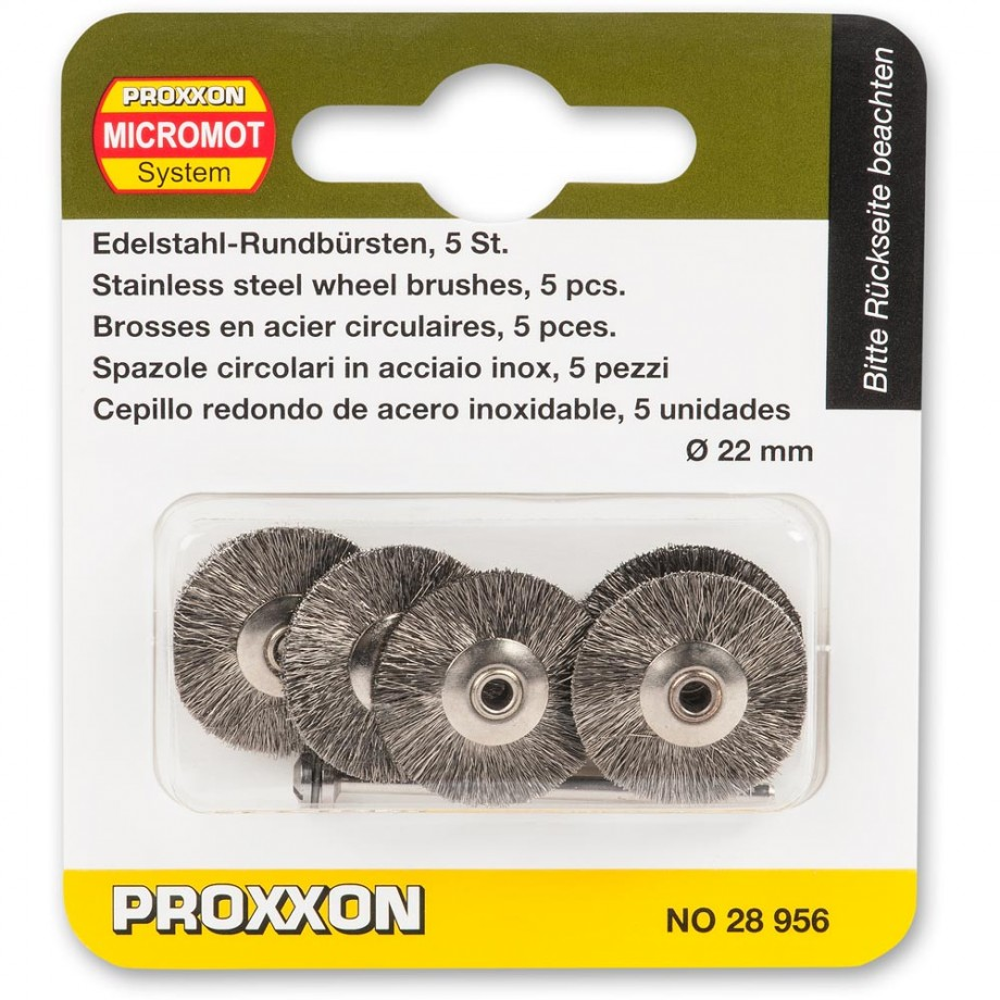Proxxon Wire Wheel Brush - Stainless Steel 22m (Pkt5)