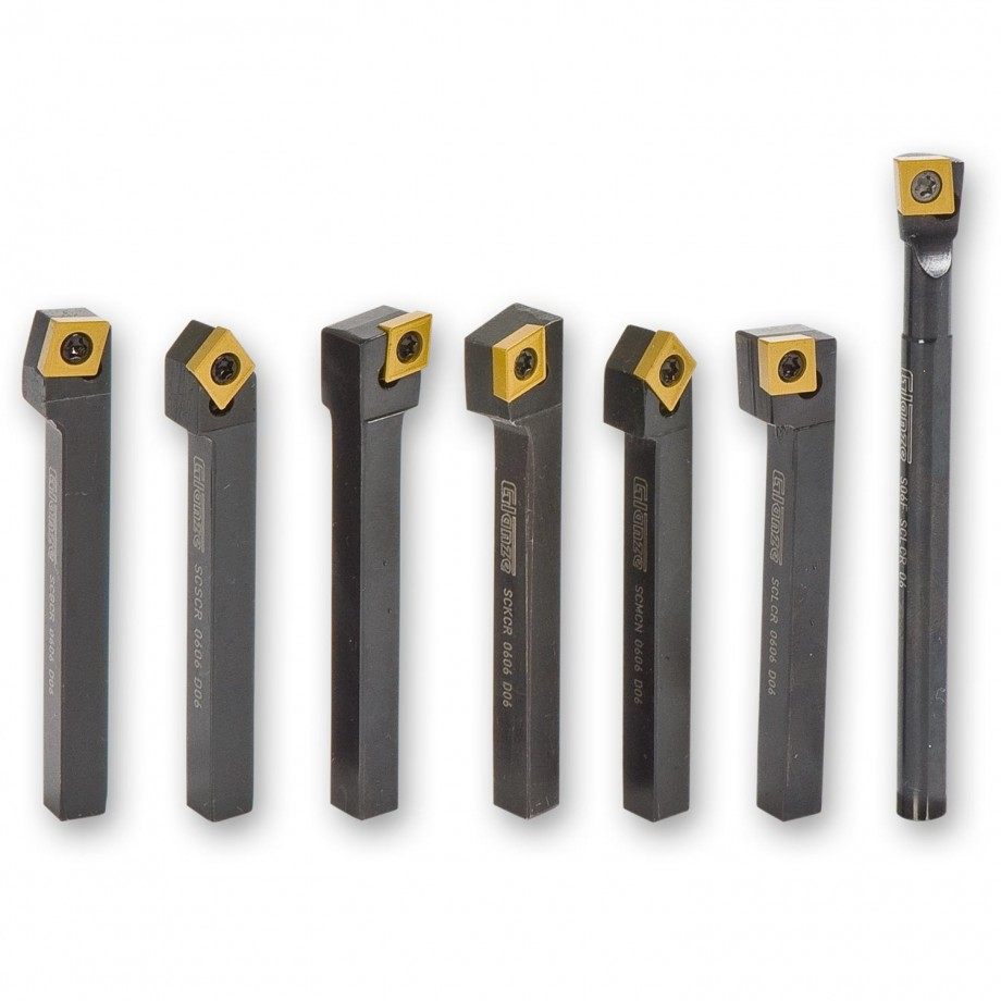 Glanze Replaceable Tip Turning Tool Set - 8mm Shank
