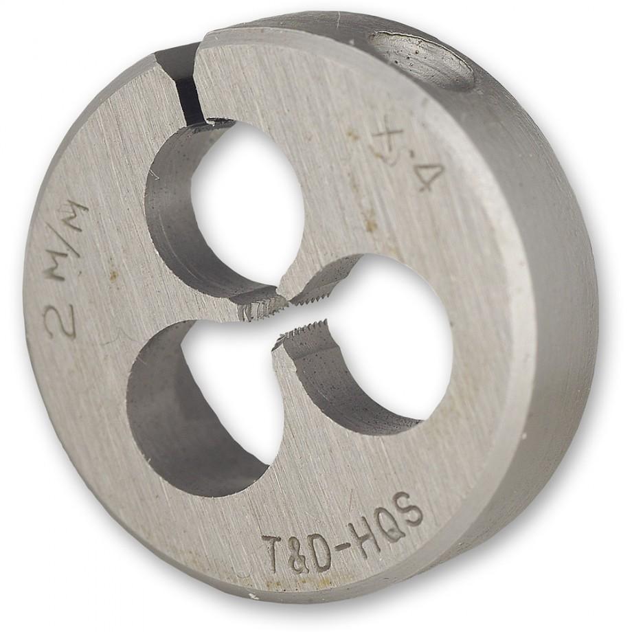 """Axminster Metric Split Die - M5 x 0.8 x 13/16"""" dia"""