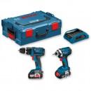 Bosch GSB 18 V-LI Combi & GDR 18-LI Impact Driver (wireless) 18V (2.0Ah)