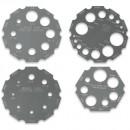 Axminster 4 Piece Universal Thread Gauge Set