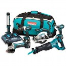 Makita DLX6044PT 6 Piece Kit 18V 3 x 5.0Ah
