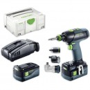 Festool T 18+3 Li 5.2-SET Drill/Driver AIRSTREAM 18V