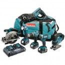 Makita DLX6068PT 6 Piece Kit 18V (3 x 5.0Ah)