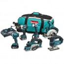 Makita DLX6067PT 6 Piece Kit 18V (3 x 5.0Ah)