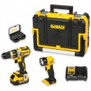 DeWALT DCD795M1 Brushless Combi Drill, Torch & Bit Set