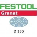 Festool Granat Sanding Discs 150mm 48 Hole 80g (Pkt 10)