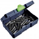 Shown holding screwdriver bits (sold separately).