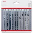 Bosch Wood & Metal Jigsaw Blade Set (Pkt 10)